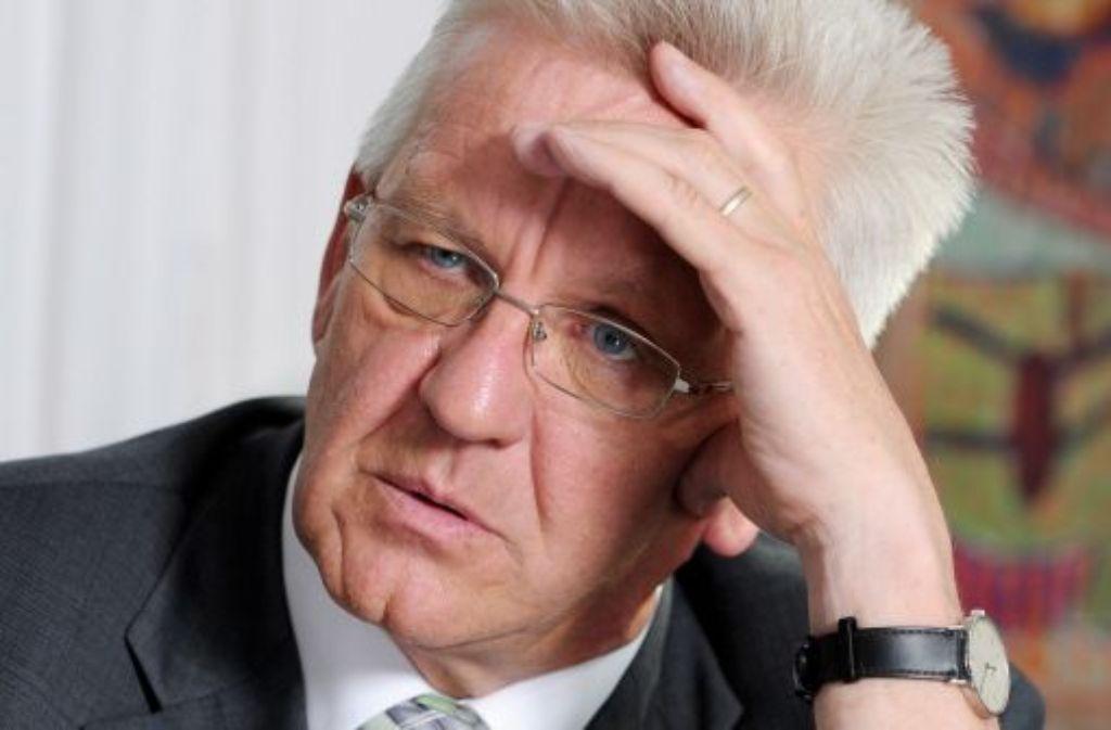 Baden-Württembergs Ministerpräsident Winfried Kretschmann (Grüne) hat sich für einen höheren Spitzensteuersatz ausgesprochen. Foto: dpa