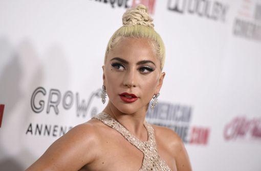 Fan hebt Lady Gaga hoch und fällt mit ihr von der Bühne