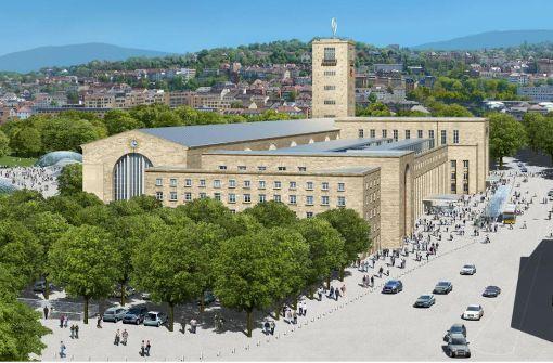 So stellen sich die Betreiber des Hotelprojekts im Bonatz-Bau die künftige Anmutung vor. Illustration:Atelier Peter Wels/Ingenhofen Architects
