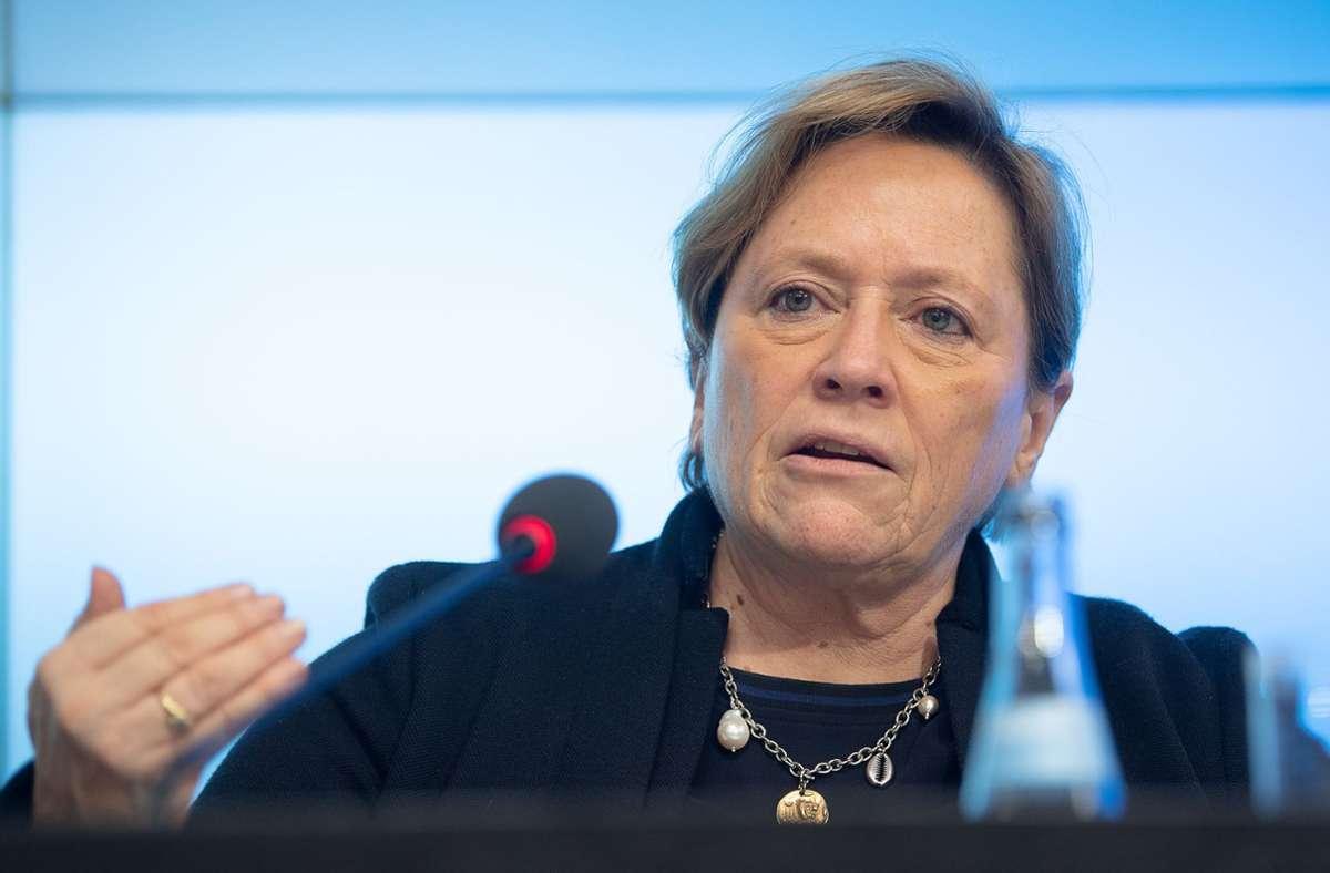 CDU-Kultusministerin Susanne Eisenmann Foto: dpa/Sebastian Gollnow