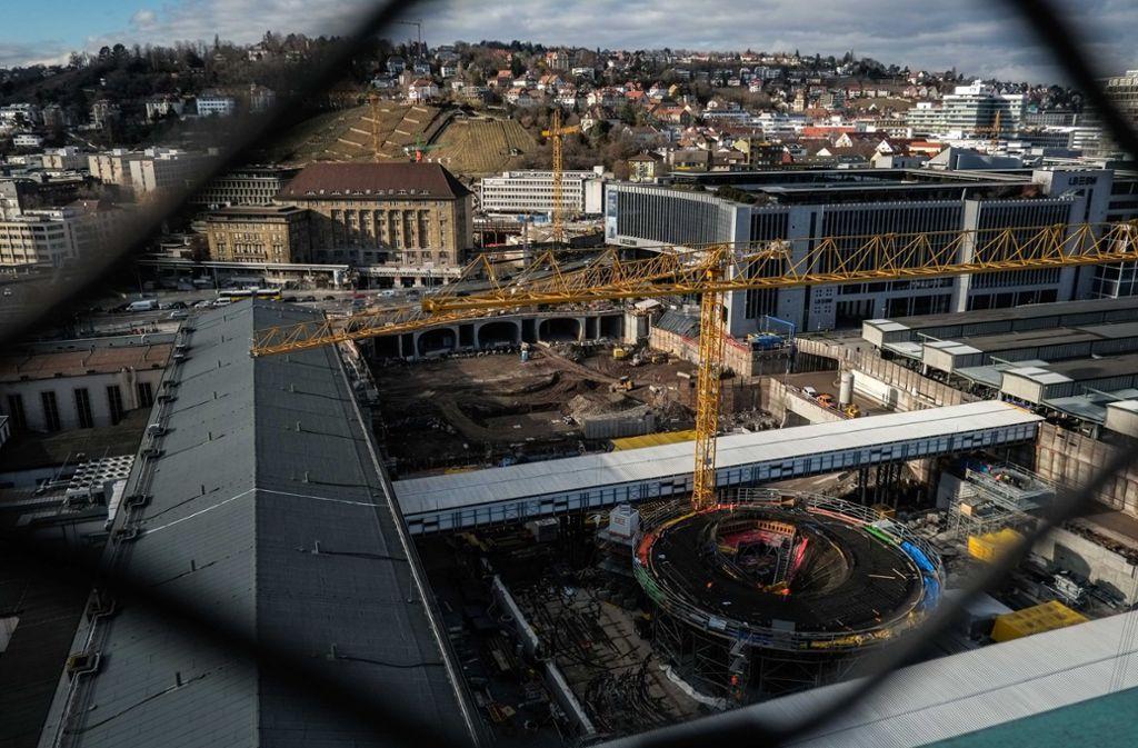 Blick in das Baufeld am Stuttgarter Hauptbahnhof Foto: Lichtgut/Max Kovalenko
