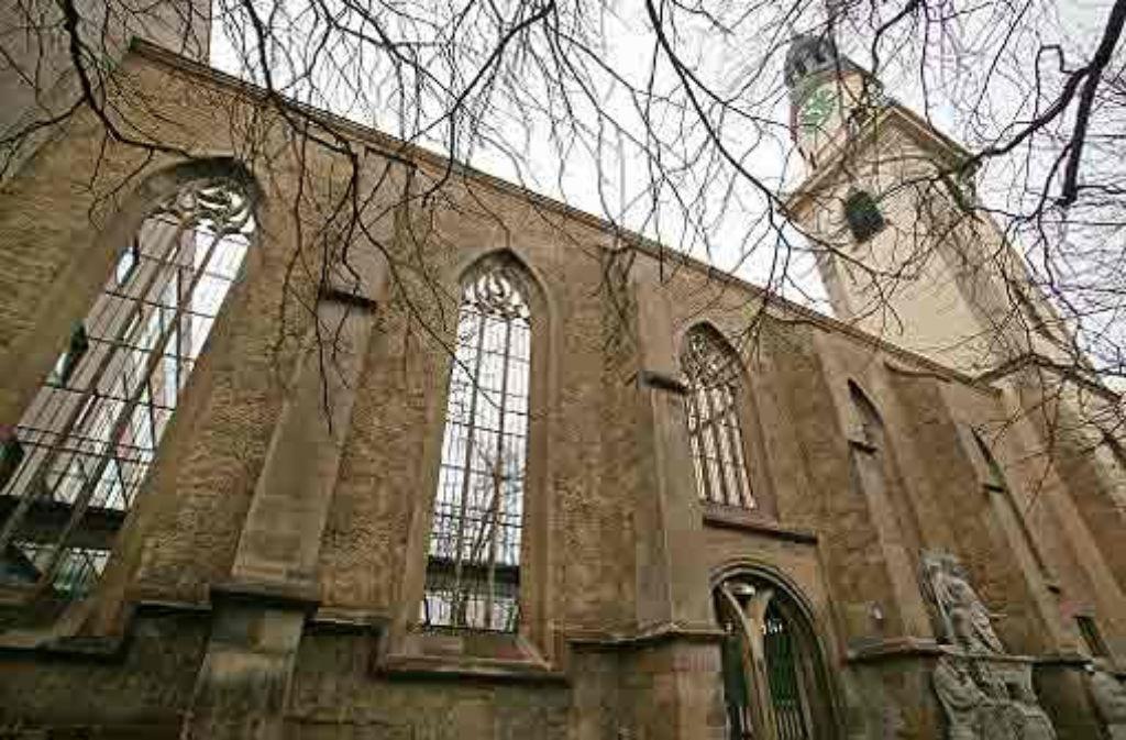 Von der Hospitalkirche blieb nur der Chorraum erhalten. Foto: Achim Zweygarth