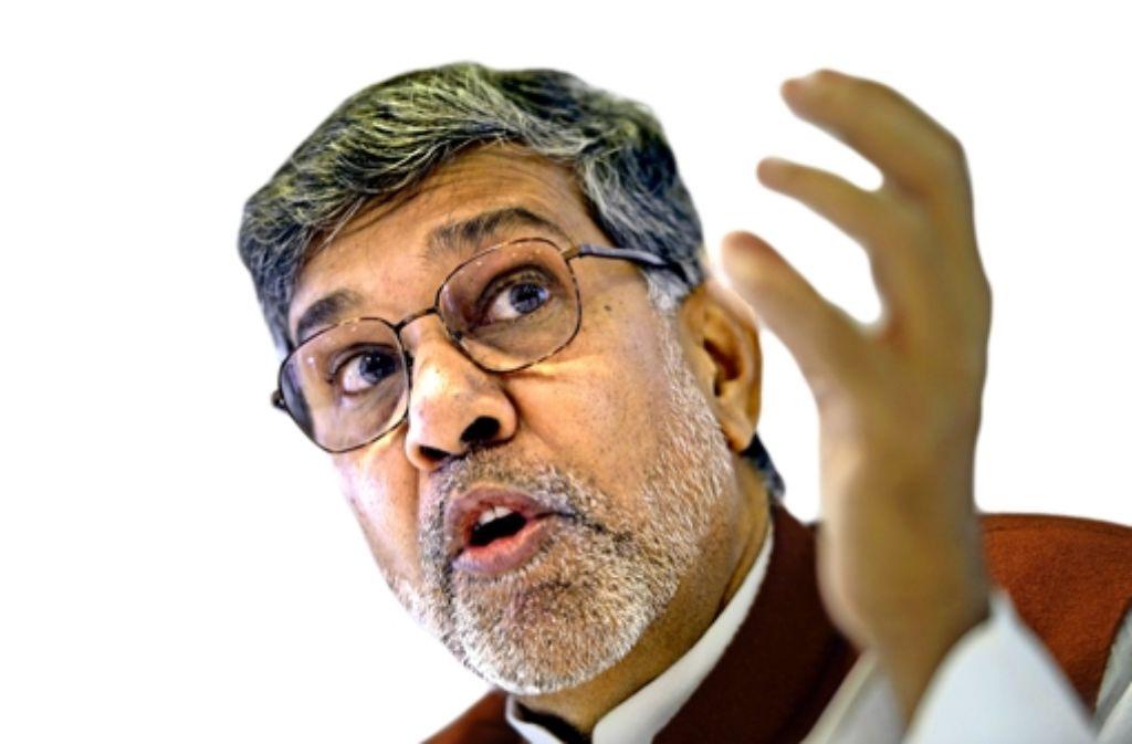 Kailash Satyarthi lockte Tausende Zuhörer auf dem Kirchentag an. Foto: AFP