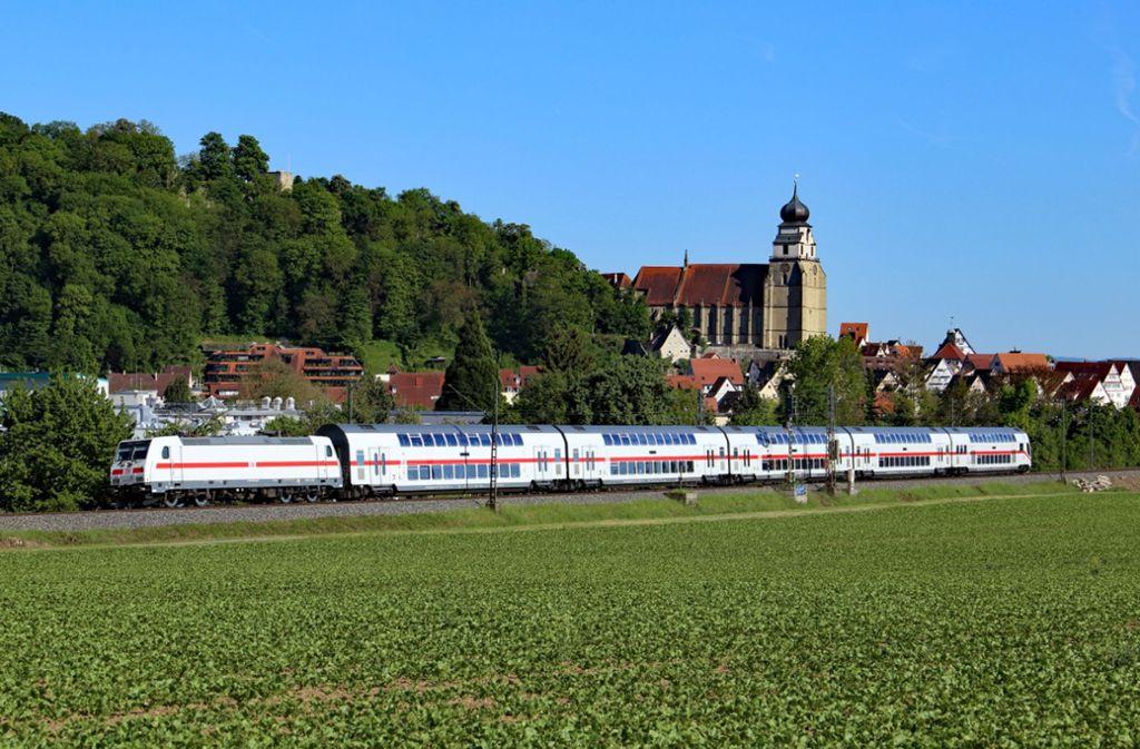 Der Intercity fährt auf der Gäubahn auch an Herrenberg vorbei. Foto: Deutsche Bahn