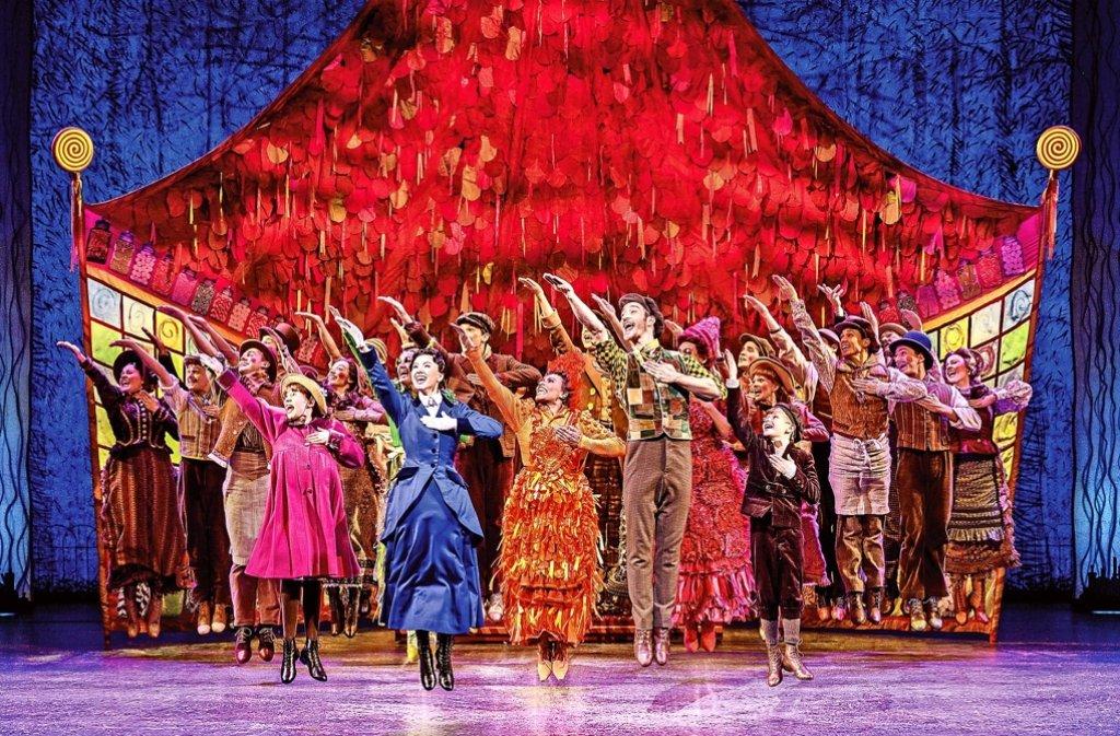 Das Musical Mary Poppins feierte am Sonntag Deutschlandpremiere in Stuttgart. Foto: