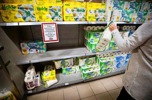 Ein Supermarkt im Corona-Fieber