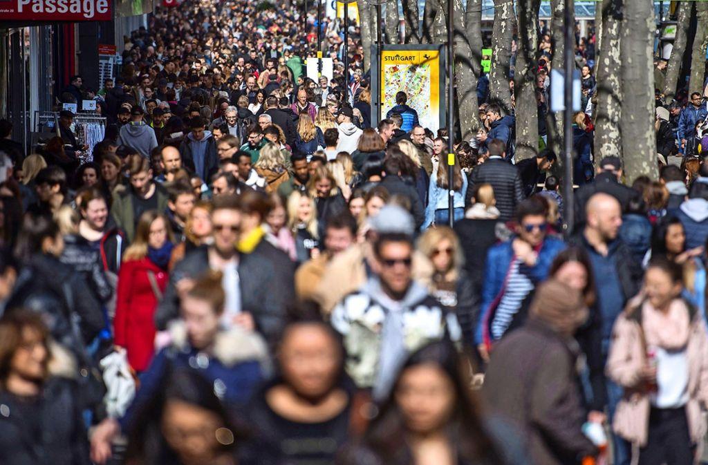 Die Einwohnerzahl Stuttgarts hat in den vergangenen Jahren merklich zugelegt. Foto: dpa