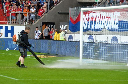 Heidenheim-Spiel gegen Aue wegen Unwetter abgebrochen