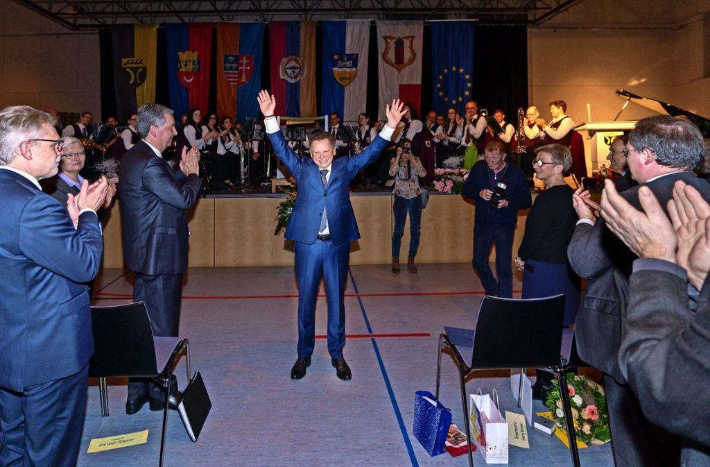 Georg Brenner lässt sich feiern. Foto: factum/Andreas Weise