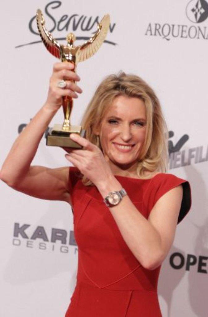 Maria Furtwängler nahm den Preis für die beste Fernsehschauspielerin mit nach Hause. Foto: dpa
