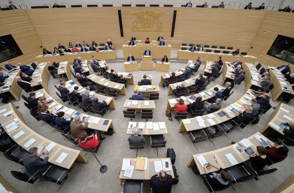 Auch im Landtag sitzt heute eine Partei, die dem Parlamentarismus Hohn spricht Foto: dpa