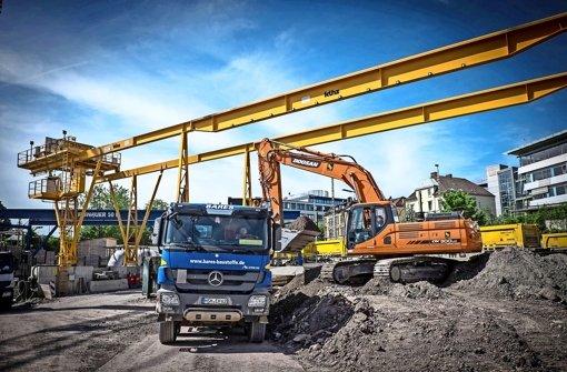 Bahn will  Massen auf den S-21-Baustellen bewegen