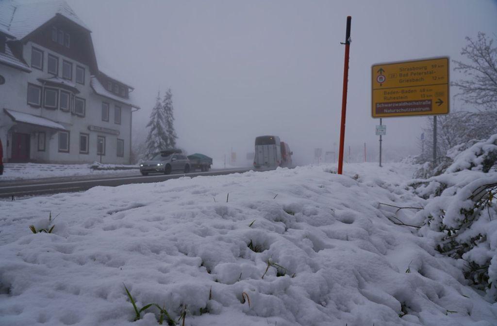 Alles weiß: Im Schwarzwald gab es den ersten Schnee. Foto: Andreas Rosar/Andreas Rosar Fotoagentur-Stuttgart