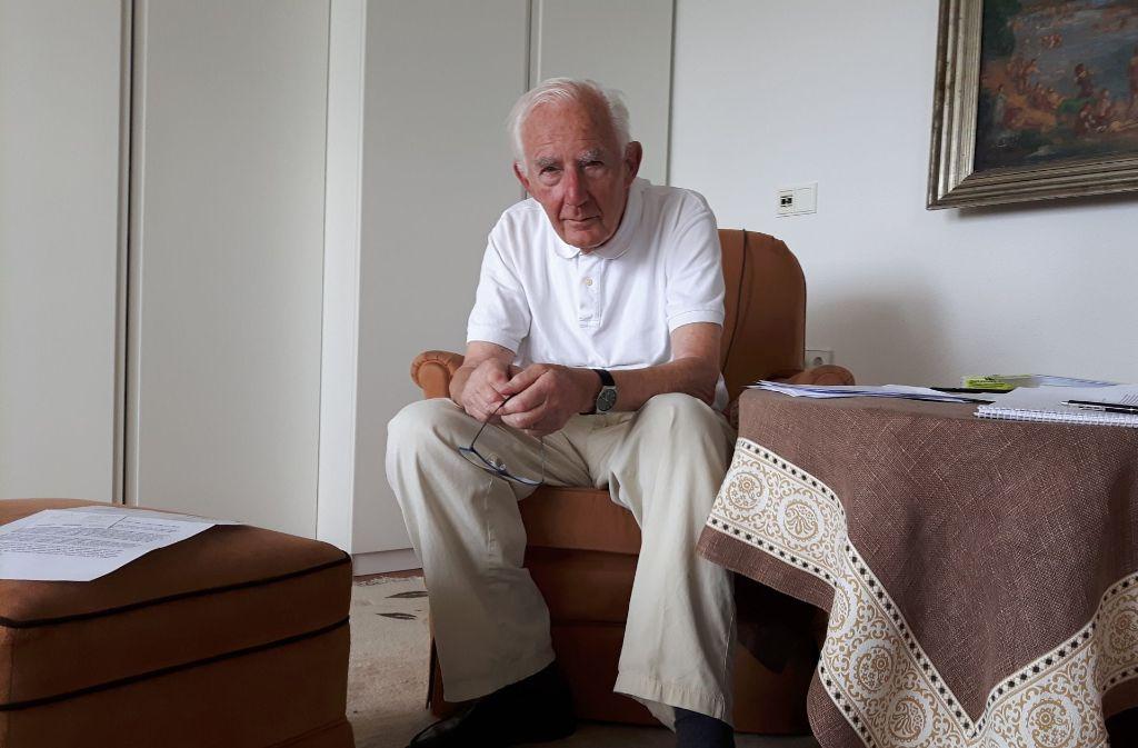 Heinz Gaisser ist entschlossen, bis zu seinem Lebensende im Seniorenzentrum haus auf dem Killesberg zu bleiben Foto: Eva Funke