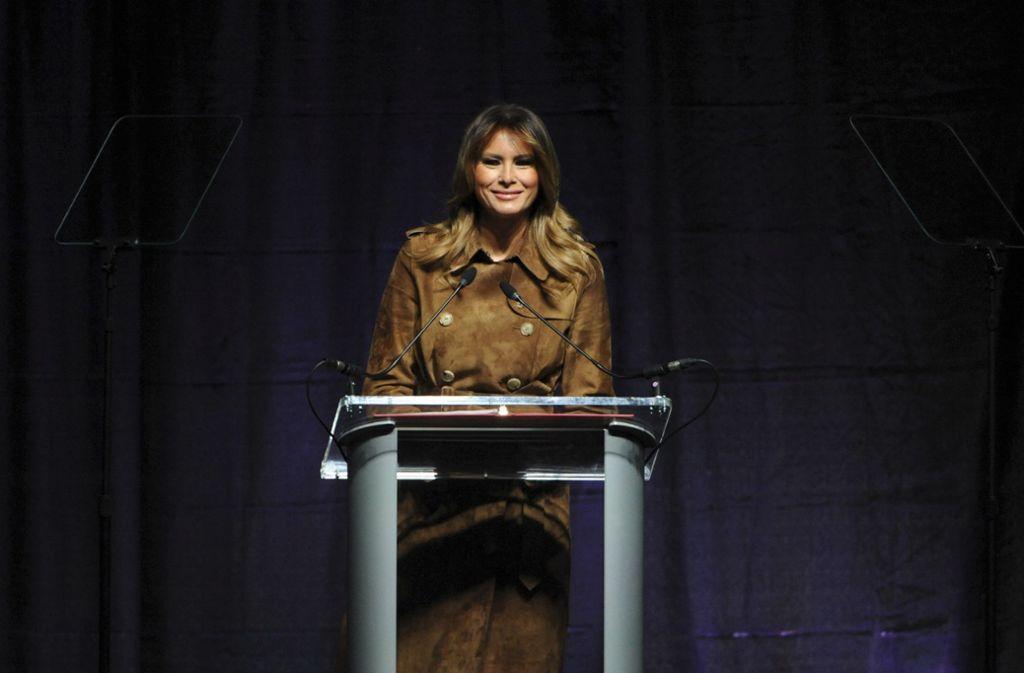 Dass eine First Lady bei einem öffentlichen Auftritt ausgebuht wird, ist ungewöhnlich. Foto: AP/Barbara Haddock Taylor