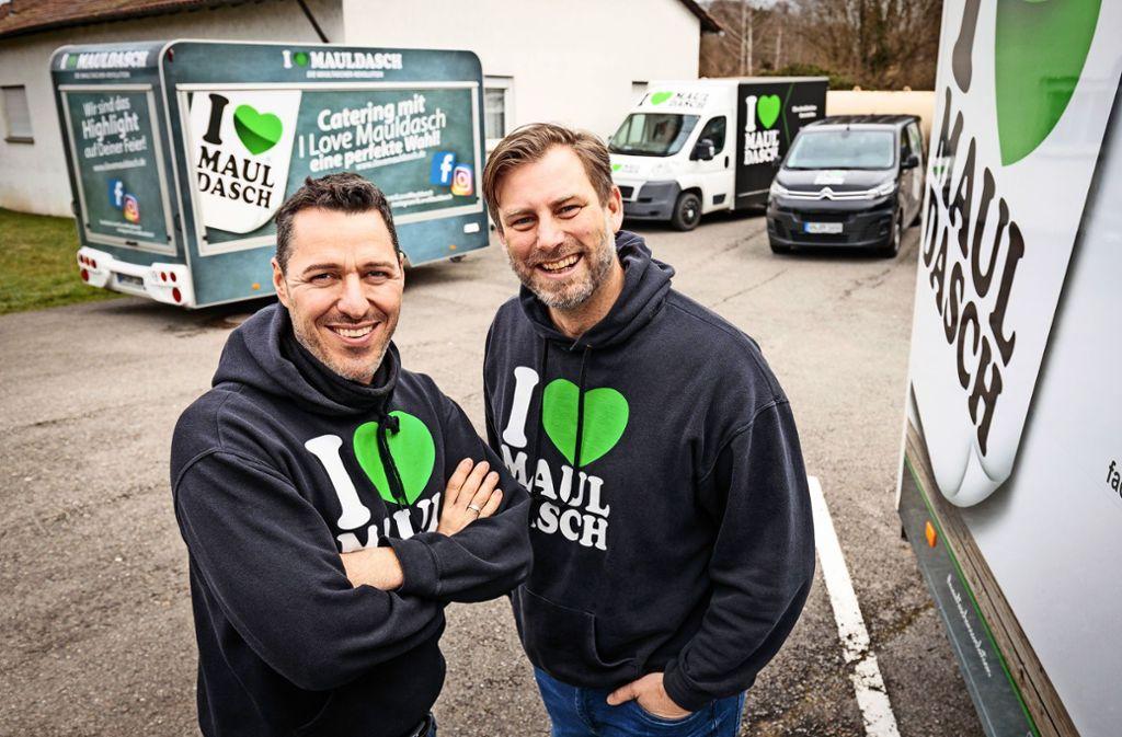 Peter Spataro (links) und Sebastian Werner starten mit I love Mauldasch weiter durch. Foto: Jan Potente