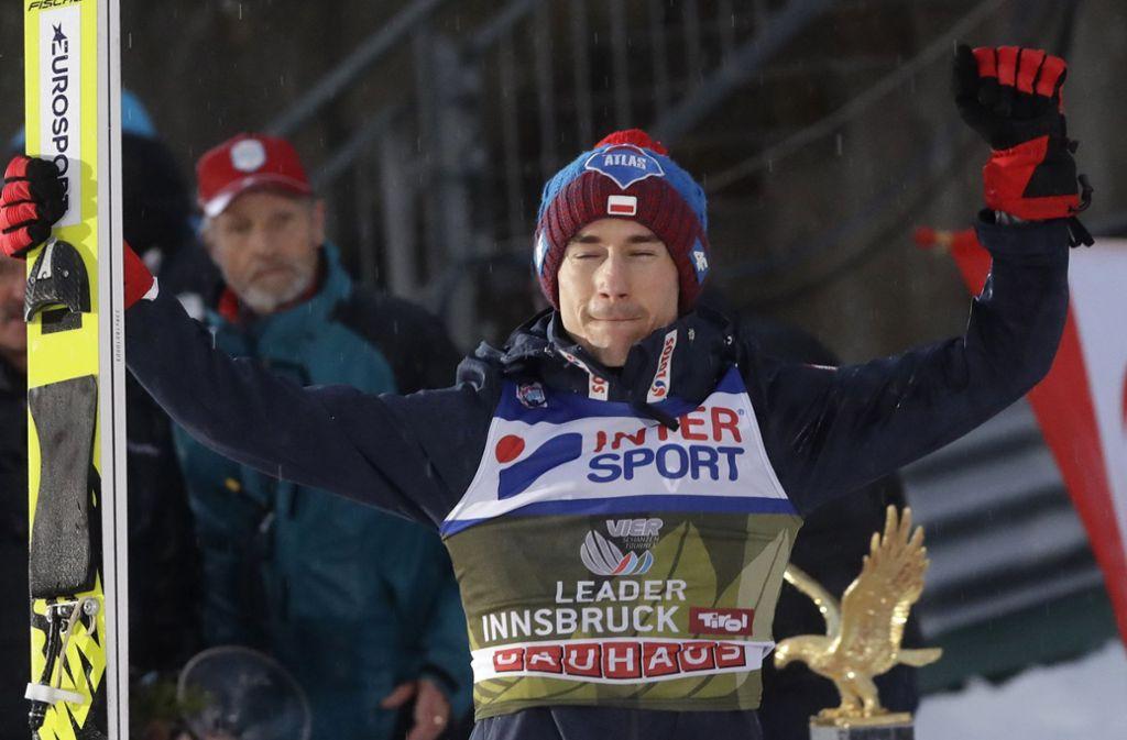 Kamil Stoch gewann das Springen in Innsbruck. Foto: AP
