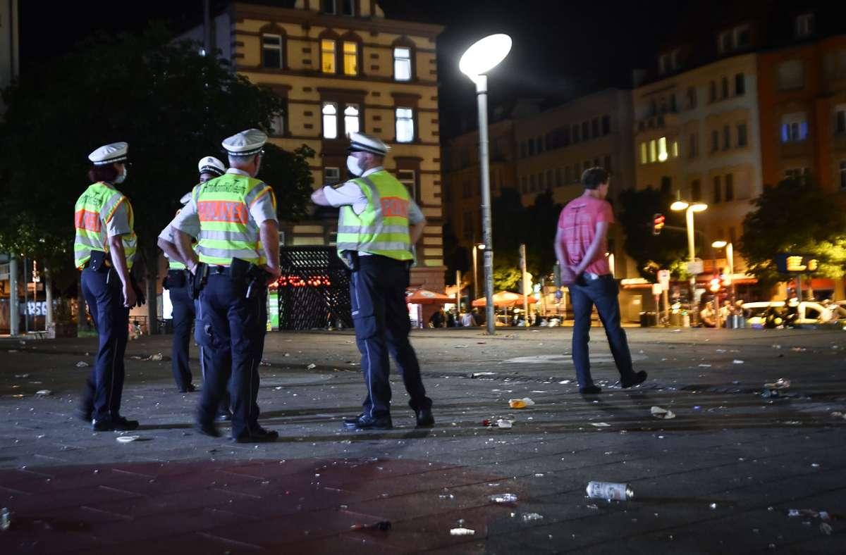 Kurz nach Mitternacht war der Marienplatz fast menschenleer. Foto: Lichtgut - Ferdinando Iannone