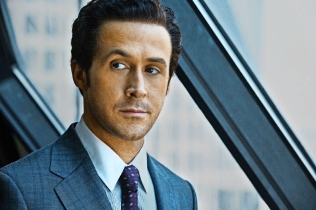 """Mit gewelltem Haar und gut gebräunt: Ryan Gosling in """"The Big Short"""". Foto: dpa"""