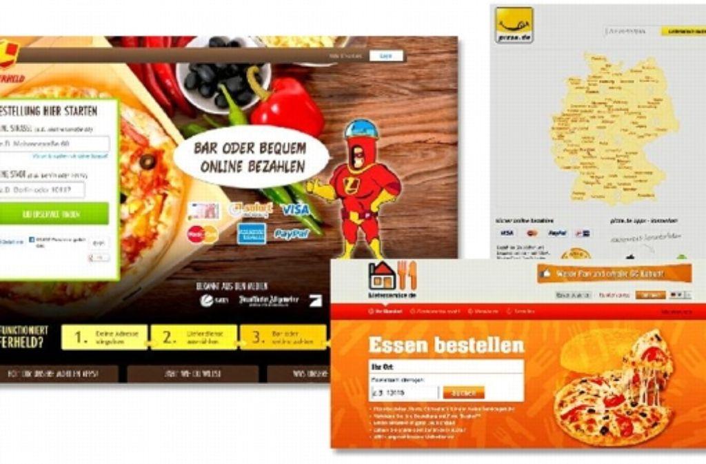 Große Spieler auf dem hart umkämpften Onlinemarkt für Essensbestellungen in Deutschland: Lieferheld, Lieferservice und Pizza.de Foto: