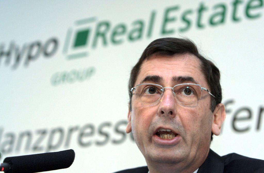 Georg Funke war Chef der Immobilienbank Hypo Real Estate. Am Montag beginnt in München gegen ihn und den damaligen Finanzvorstand Markus Fell der Prozess. Foto: dpa