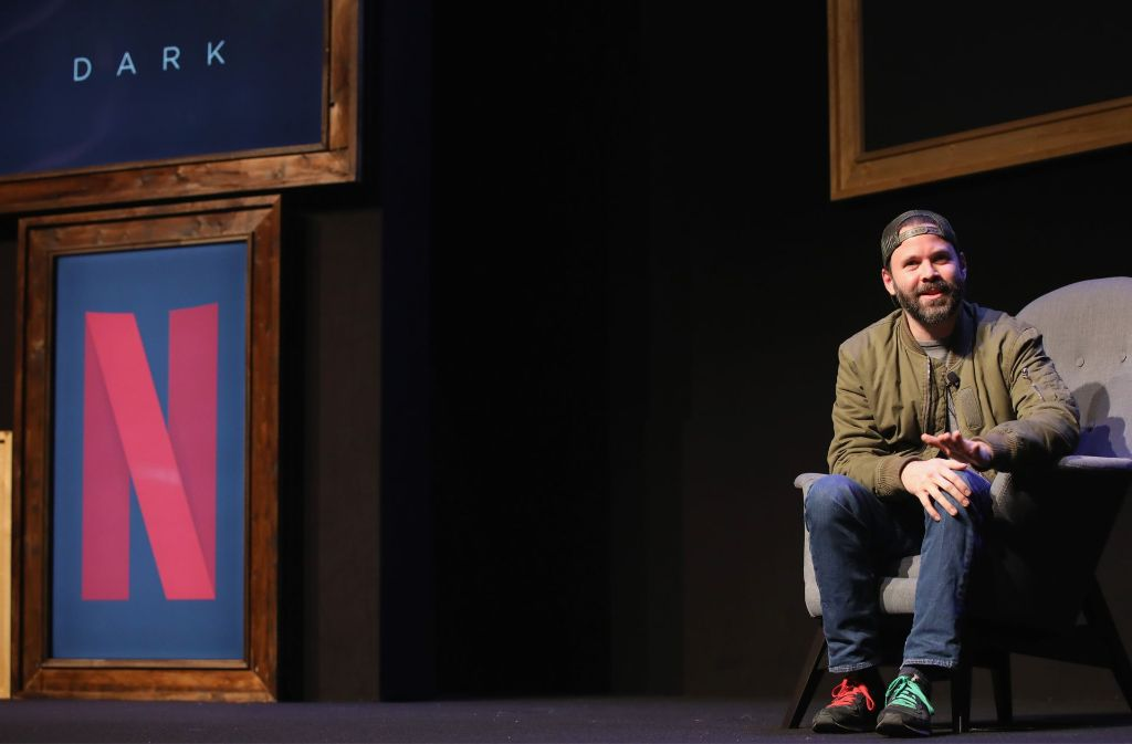 """Baran Bo Odar am Mittwoch bei der Pressekonferenz zu """"Dark"""" in Berlin Foto: Getty Images Europe"""