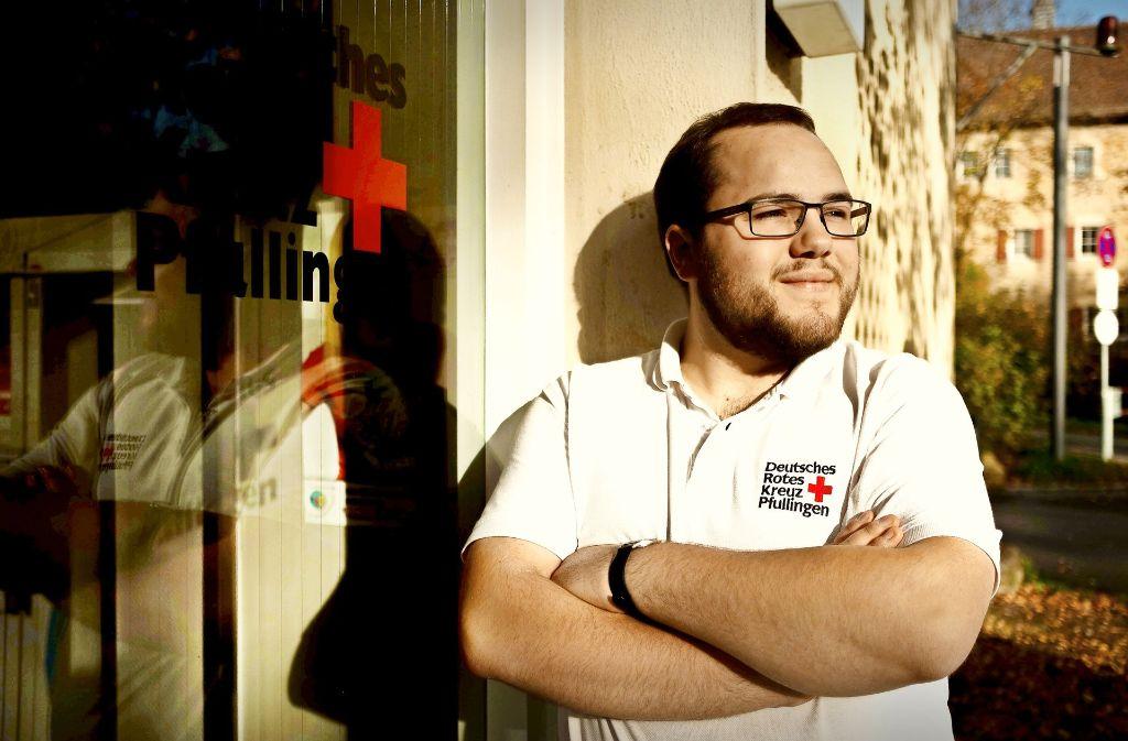 Johannes Baumann ist seit dem Alter von elf Jahren im Roten Kreuz aktiv. Foto: Lichtgut/Leif Piechowski