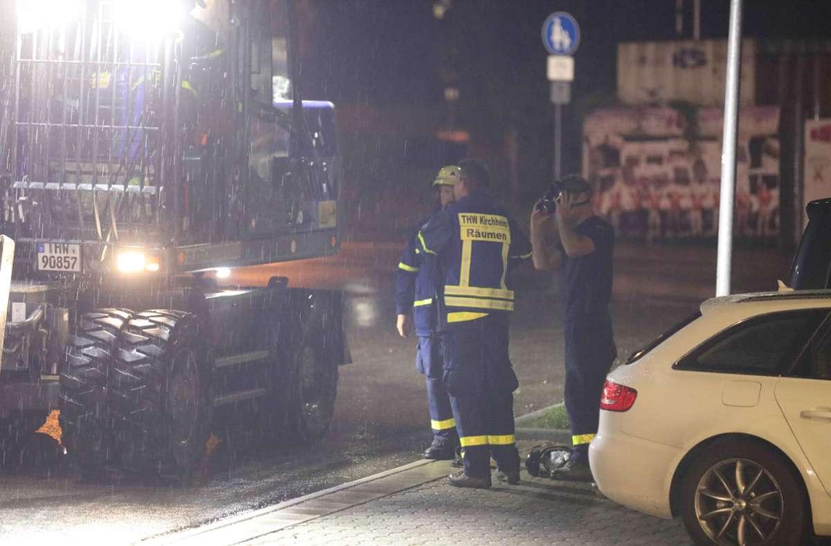 In Neuffen brannte eine Grünschnitthalde wegen  Brandstiftung. Foto: SDMG/SDMG / Maier