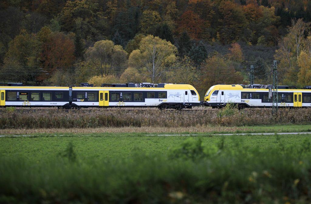 Die neue Stadler-Züge werden auf der Murrstrecke erst ab Frühjahr fahren. Foto: /Gottfried Stoppel