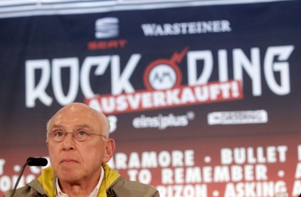 Konzertveranstalter Marek Lieberberg hat bekanntgegeben, dass das Festival Rock am Ring im kommenden Jahr ebenfalls am ersten Juni-Wochenende stattfindet. Foto: dpa