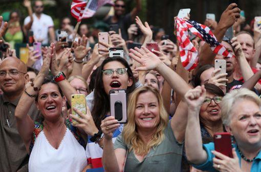 Weltmeisterinnen in New York von Tausenden Fans gefeiert