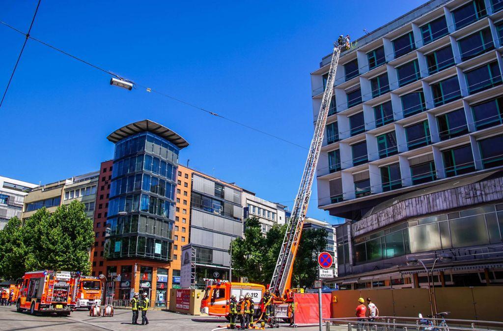 An der Königstraße in Stuttgart-Mitte ist am Donnerstag ein Feuer ausgebrochen. Foto: 7aktuell.de