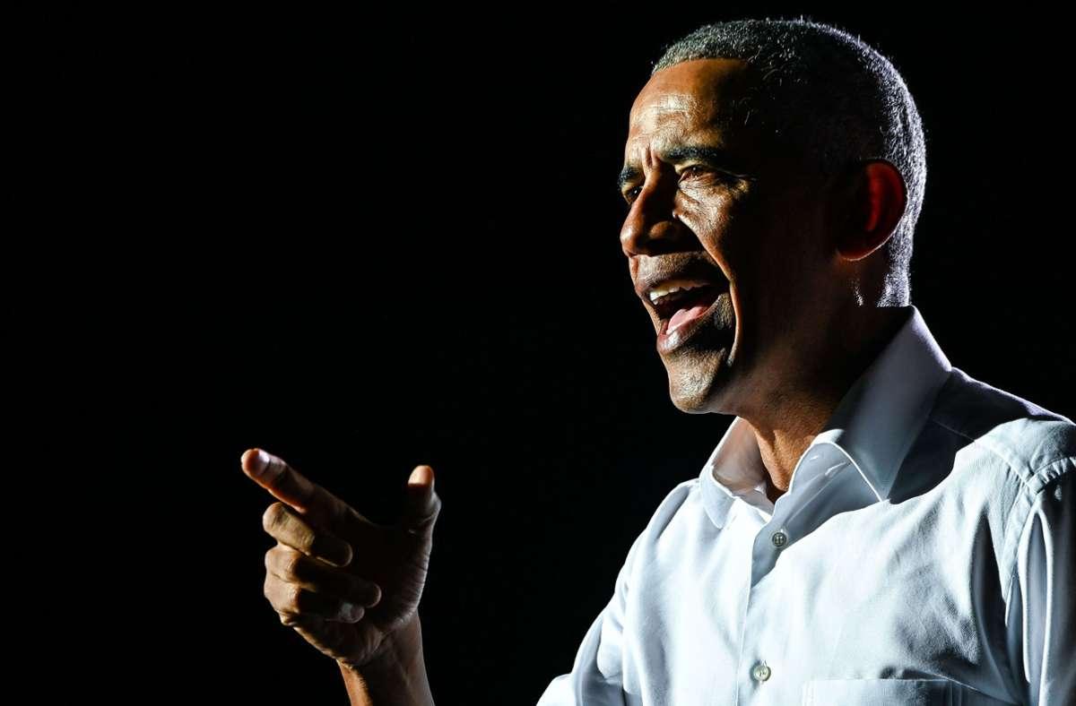 Barack Obama redet über die aktuellen Entwicklungen in den USA. Foto: AFP/CHANDAN KHANNA