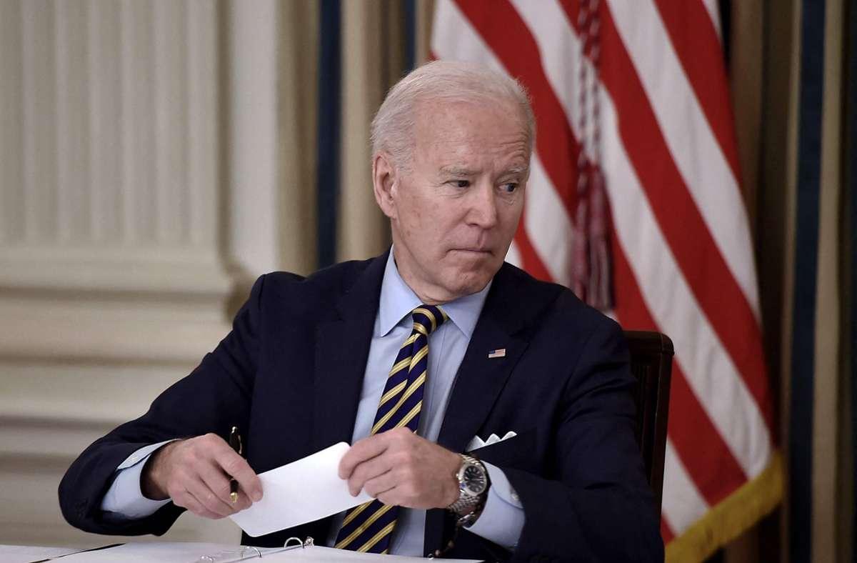US-Präsident Joe Biden. (Archivbild) Foto: AFP/OLIVIER DOULIERY