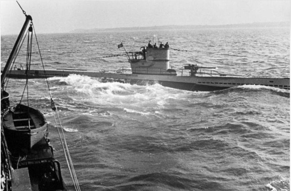 Ein U-Boot vom Typ VII auf der Überwasserfahrt: Dieser U-Boot-Typ war der meistgebaute des Zweiten Weltkrieges. Foto: privat