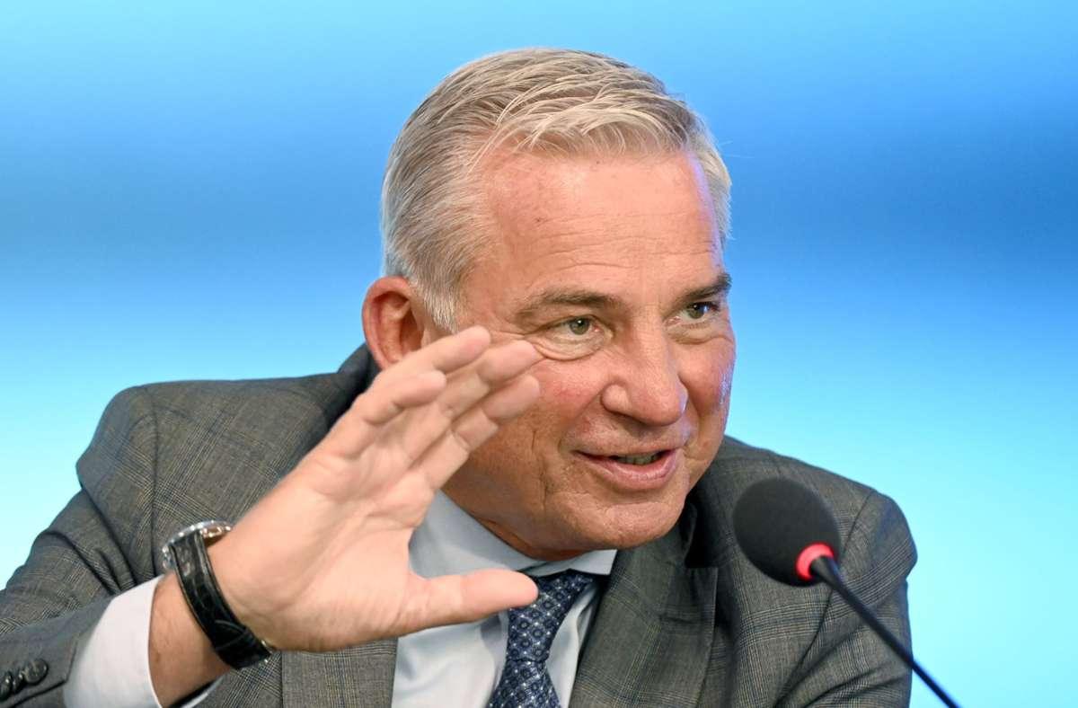 Thomas Strobl (CDU), Innenminister von Baden-Württemberg. Foto: dpa/Bernd Weißbrod