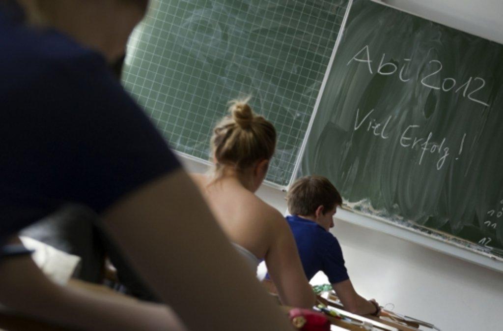 Auf dem Weg zum Abitur Foto: dapd