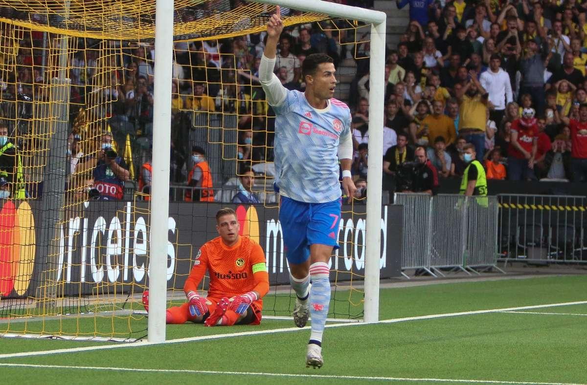 Cristiano Ronaldo trifft im Wankdorfstadion zum 1:0 – doch es reicht nicht zum Sieg. Foto: imago images/PanoramiC/Laurent Lairys
