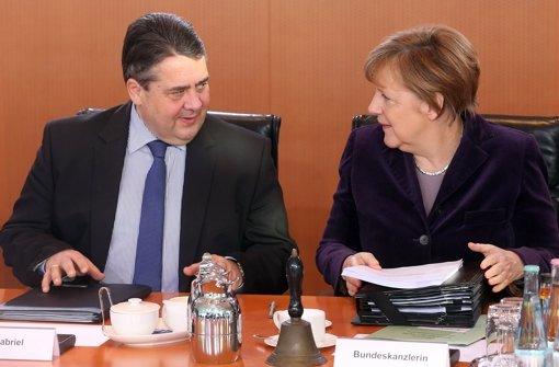 Bundeskanzlerin Angela Merkel (links) und Vizekanzler Sigmar Gabriel Foto: dpa