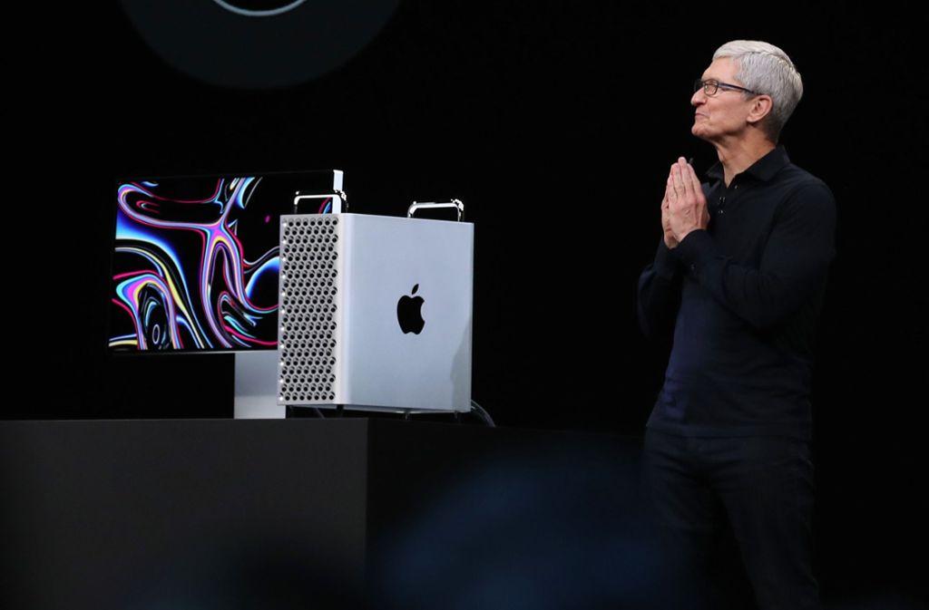 Der neue Apple Mac Pro soll sich vor allem an Profi-Nutzer richten. Foto: AFP