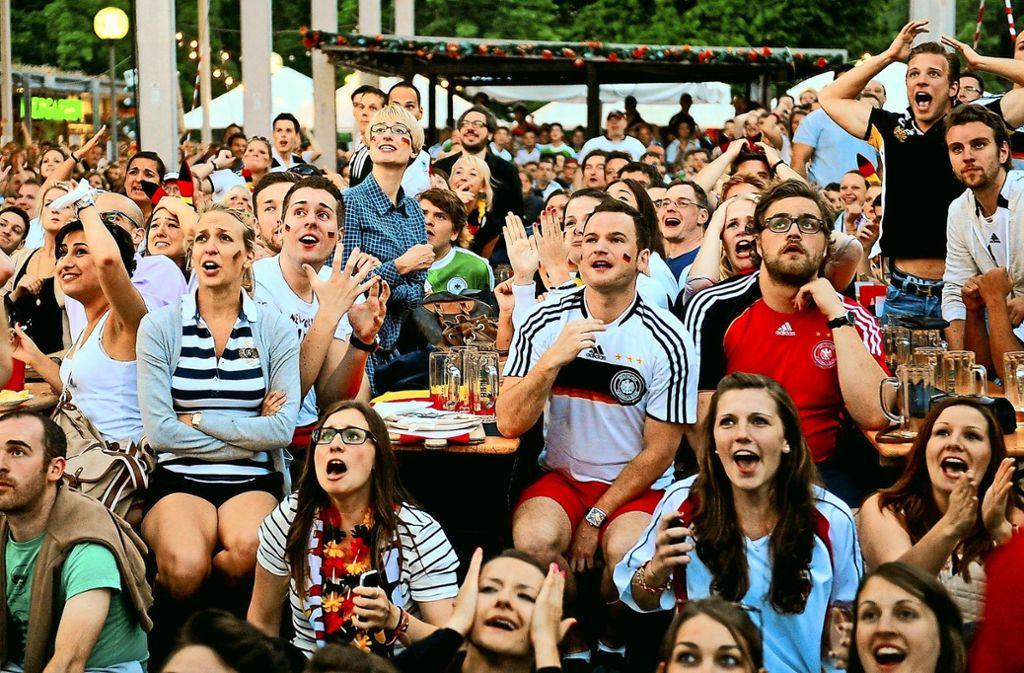 Das WM-Fieber packt oft auch Menschen, die keine Ahnung vom Sport haben. Beim Public Viewing kann man sich ohne Fachwissen jedoch schnell blamieren. Diese Sätze sollten Sie vermeiden. Foto: dpa