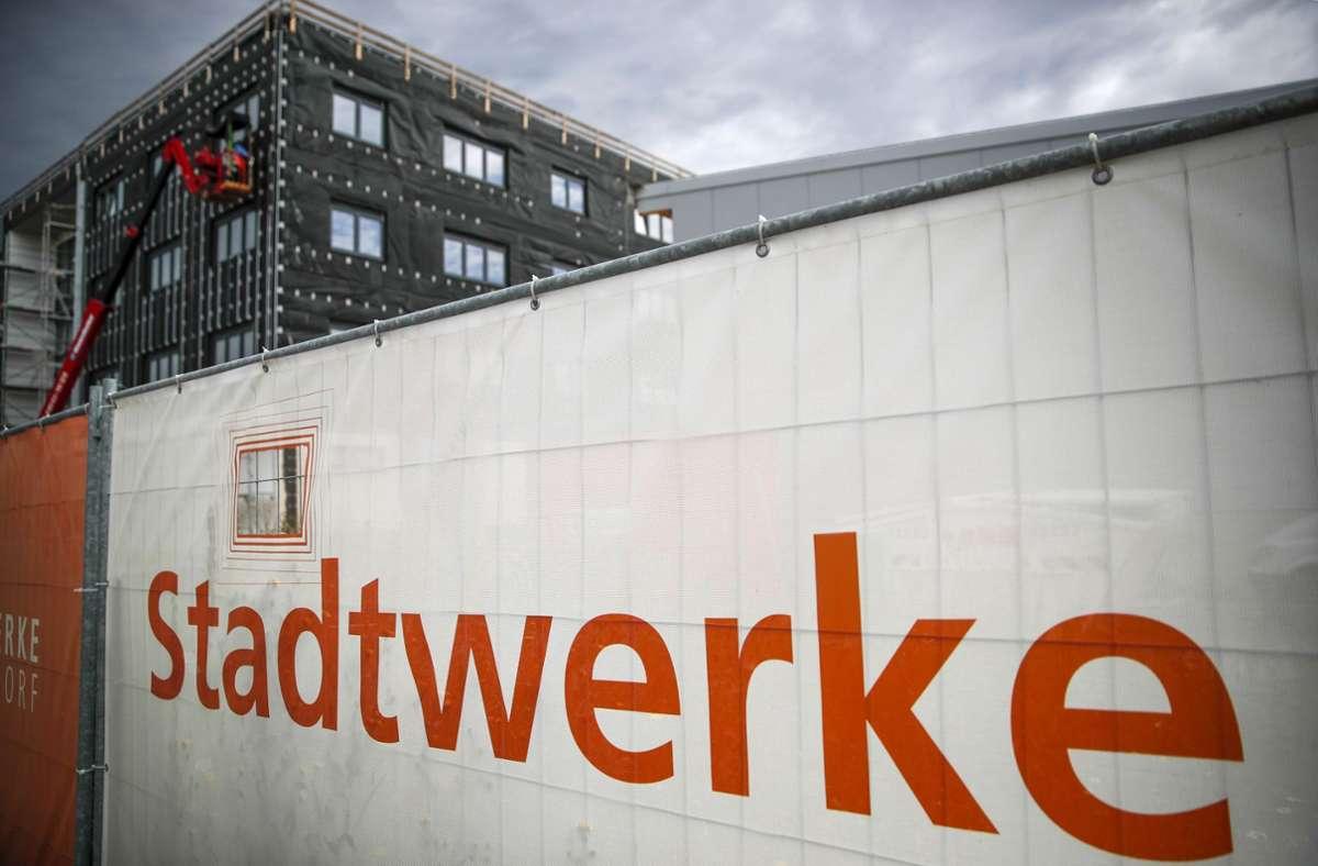 Der Neubau der Stadtwerke Schorndorf soll im Frühjahr bezogen werden. Foto: Gottfried Stoppel