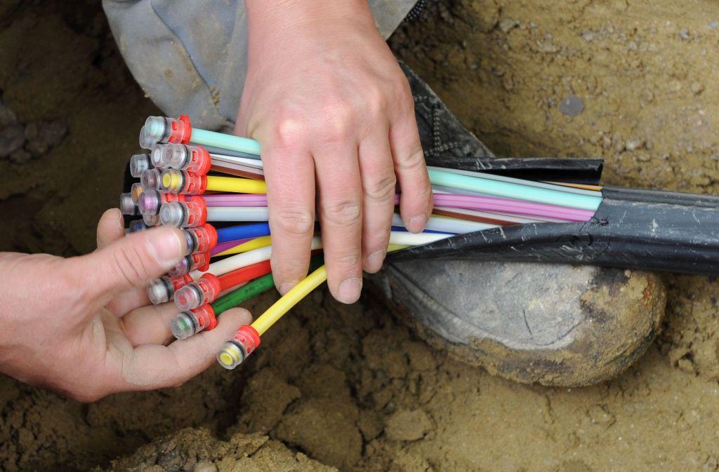 Schön bunt, und ganz schön teuer: Glasfaserkabel sollen das Internet beschleunigen. Foto: dpa