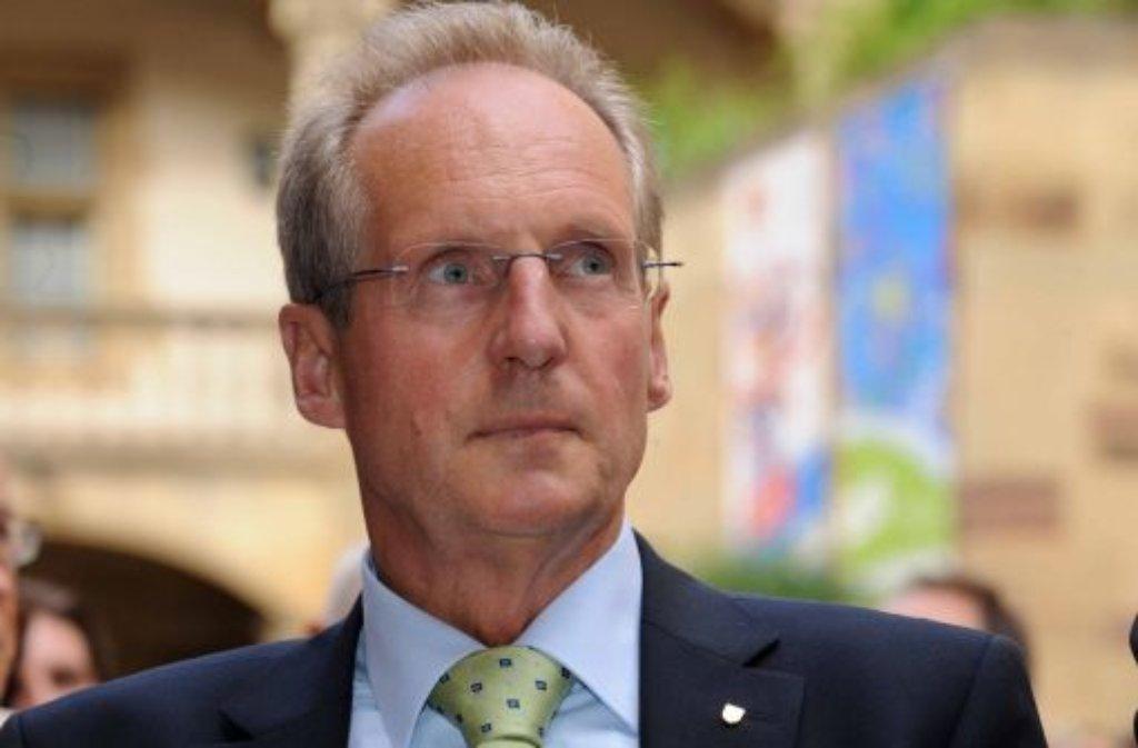 Die hiesige CDU steht nicht hinter Wolfgang Schuster. Foto: dpa