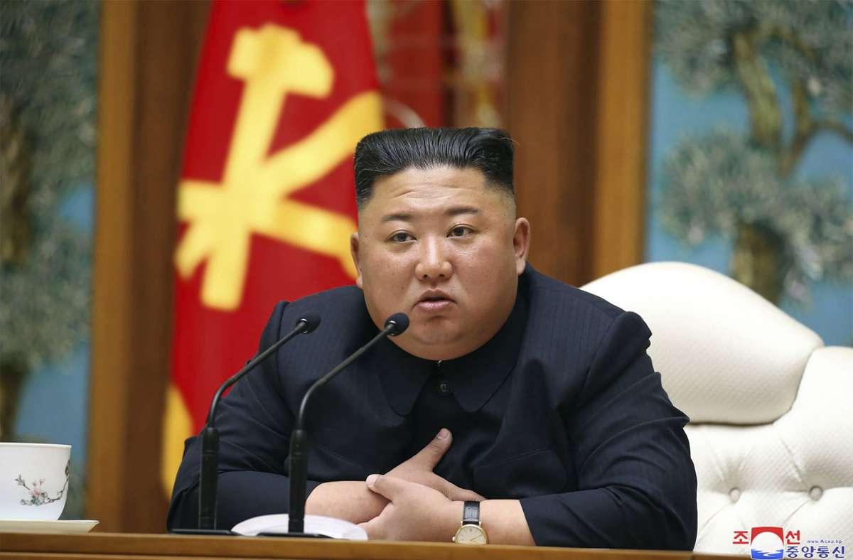 Ungewöhnliche Geste: Nordkoreas Machthaber Kim Jong Un hat sich bei Südkorea für die Erschießung eines Beamten entschuldigt. Foto: AP