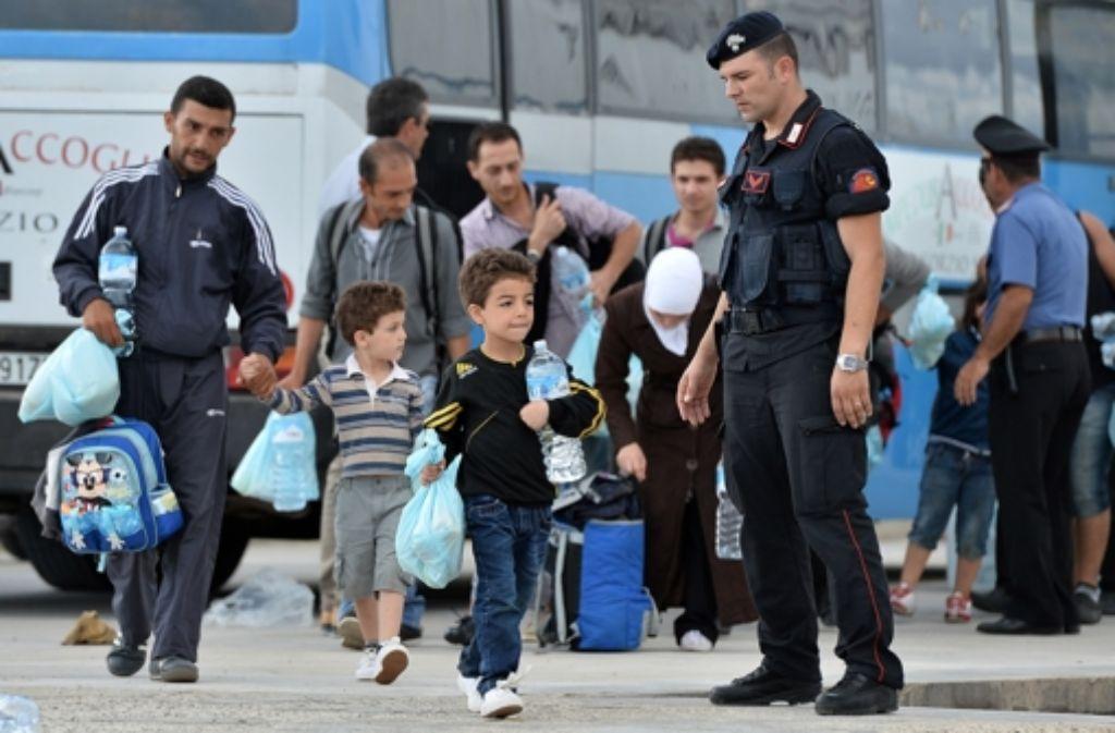 Gut angekommen: Diese Kinder haben die Flucht nach  Italien geschafft. Foto: