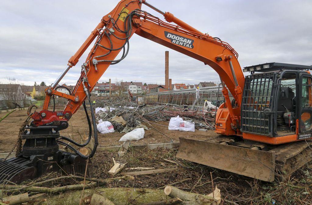 Der Abriss am Fuchshof hat bereits im Januar begonnen. Foto: factum/Granville