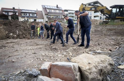 Jetzt beginnen die Bauarbeiten in Korntals Ortsmitte