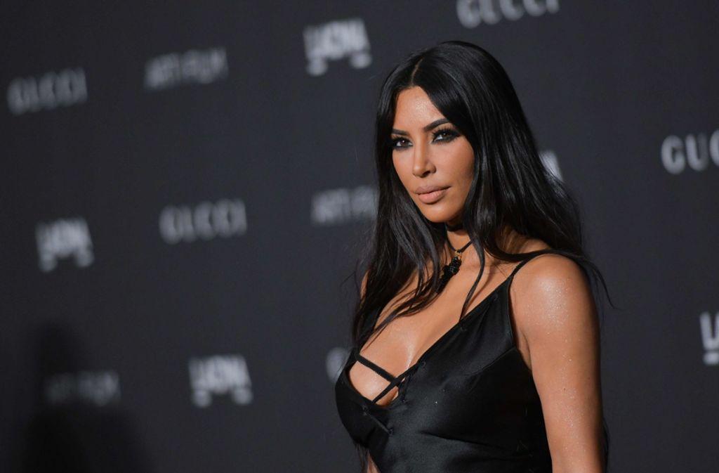 Kim Kardashian West nimmt gewitzterweise direkt mit Präsident Trump auf. Foto: AFP
