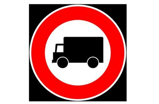 Samstags fahren keine Lastwagen